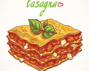 PDF RECIPE: Homemade Meat Lasagna Ricotta Cheese / How to Make Classic Beef Lasagna Italian Food / Digital Download Recipe / Printable Ebook