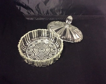 Vintage Round Candy Dish with Lid