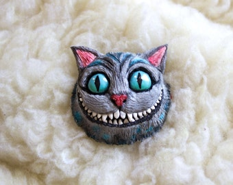 Brooch Cheshire Cat from Alice in Wonderland