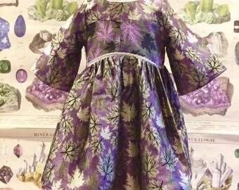 Morgana - Purple brocade party dress