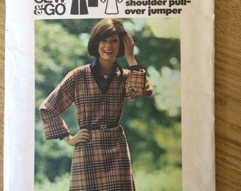 Butterick 3355 1970s Dress Sewing Pattern 18