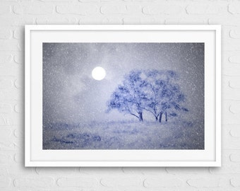 Snow view Art Photo With Frame