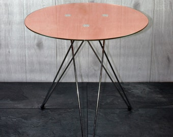 Side table, covered with sheet copper - unique