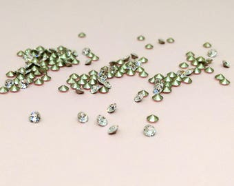 2.5mm Crystal Clear Chaton, 33 units, Swarovski Crystal Rhinestone, Xilion Round, PP18 Embellishment, Diy Jewelry, Loose Rhinestones,YC0013