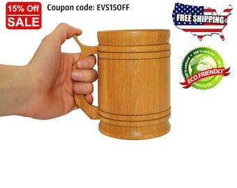 Wooden beer mug Tankard Wood beer mug Wooden stein Wooden mug Beer mugs Wooden beer stein Wooden tankard Beer stein Handmade mug