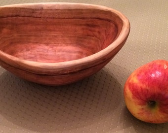 Hand Carved Cherry Bowl