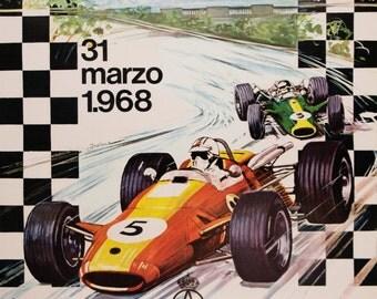 SALE! Barcelona - 3rd Grand Prix of Spain 1968 (27 x 38)