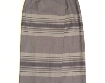 Lauren RALPH LAUREN Wool Striped Women's Wrap Long Maxi Skirt Size 10