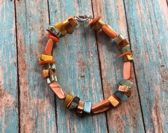 Southwest Boho Bracelet, Stone Boho Bracelet, Southwest Bracelet, Jewelry. Bracelet