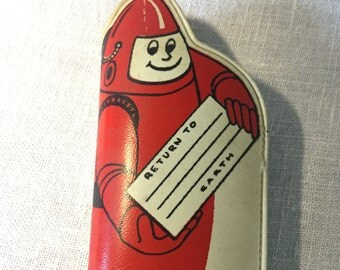 Space Man Astronaut Vintage Eye Glasses Case, Childs, Ca: 1950s.