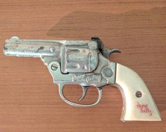 Vintage Kenton Toys Gene Autry Cap Gun - Cast Iron - Cowboy - Toy