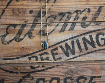 Delicate Kyanite Necklace on Dainty Gold Chain