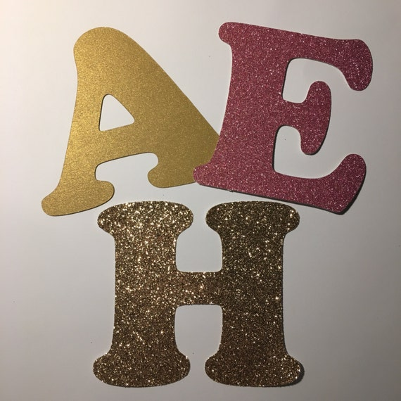3 glitter cardstock letters custom die cut lettering and numbers glitter cardstock or