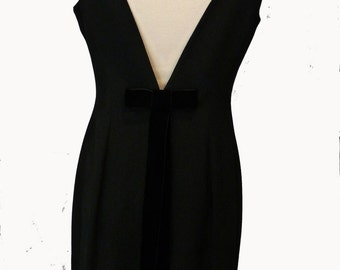 Evening dress back naked vintage style 1960 Pianoforte di Max Mara