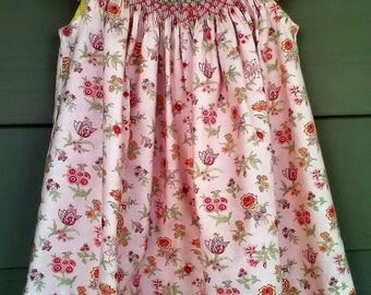 Handsmocked floral dress size 2