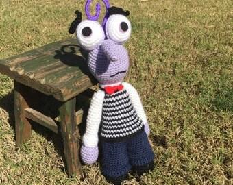 Handmade crochet Scared doll