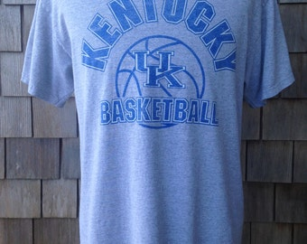 Vintage 90s KENTUCKY WILDCATS Basketball T Shirt - Large - University