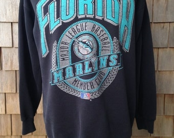 Vintage 90s FLORIDA MARLINS Sweatshirt - Large - Soft