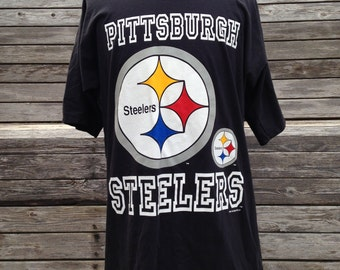 Vintage 90s PITTSBURGH STEELERS All Over Print T Shirt - Large / XL - Oversized