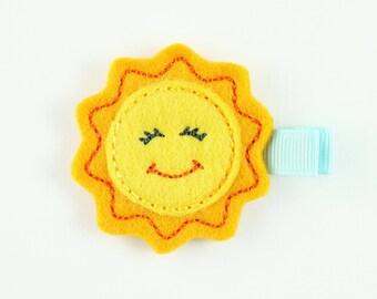 Newborn Summer Hair Clip   Sun Hair Clip   Sun Hair Clip   Beach Feltie   Summer Hair Clip   Toddler Hair Clip