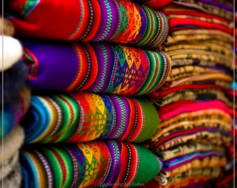 Colored Andean Fabrics, Peruvian Blankets, Ethnic Textile, aguayo, cusco fabrics, Andean fabric