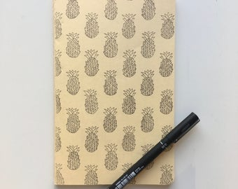 Pineapples Moleskine A5 Lined Notebook