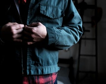 Lined Jacket | Men's Vintage | Factory Workers Jacket | USA | Medium