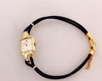 1960's Vintage 18K Solid Gold Rolex size F 17jewels Manual Wind Ladies Fancy Watch