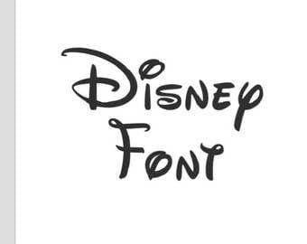 Walt Disney World Land Font Monogram Decal SVG Cut Files Instant Download