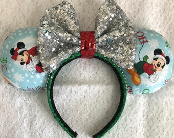 Disney Inspired Minnie Mickey Donald Pluto Christmas / Holiday Mouse Ears