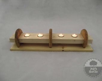 wood candle holder - Wooden tealight  - pine - oak  - Mantle  piece - Dining Table - Center Piece - dinner party - anniversary