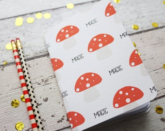 Magic Toadstool Notebook/Sketchbook A6