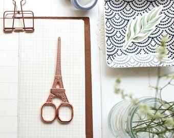 Eiffel Tower Scissors, Rose Gold Scissors, Gold Scissors, Vintage Scissors, Embroidery Scissors