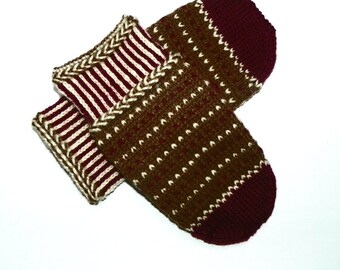 SALE 50 % Patterned  mittens Knitted gloves Cold winter mittens Knitted mittens Wool mittens Warm gloves Comfy mittens Gift Warmers