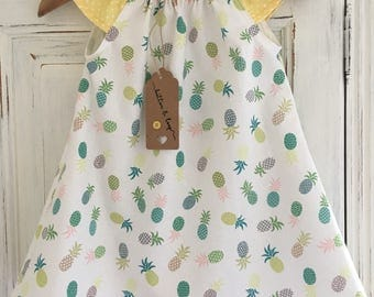 dresses, baby girl dresses, girls dresses, girls clothing, baby girls clothing, pineapple dress, summer dresses, party dress, gifts for girl