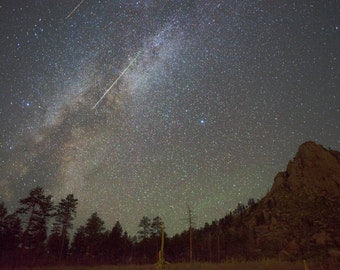 Perseid Milky Way Canvas Print