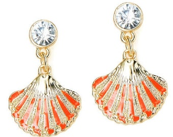 Coral Shell Earrings EA6044j