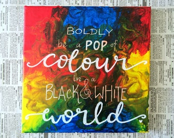 Melted crayon art - Be a Pop of Colour!
