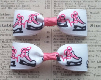 Skate Hair Bows, girls hair bows, ice skate accessories, party favors, ice skate hair bows, sports hair bows, hair accessories