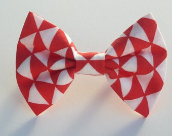 Red Triangles Bow Tie- All Sizes