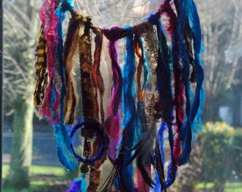 Indian Sari Ribbon Tree of Life Boho Dream Catcher