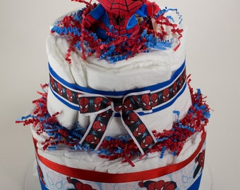 Spider-Man Diaper Cake