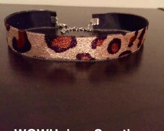 Leopard print velvet choker, leopard print, leopard dress, leopard chokers, velvet chokers