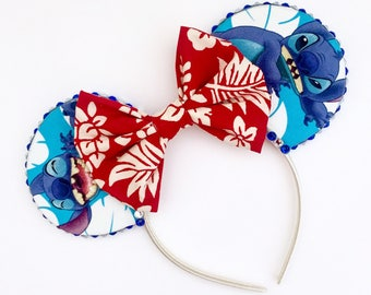 The Experiment - Handmade Lilo & Stitch Inspired Mouse Ears Headband