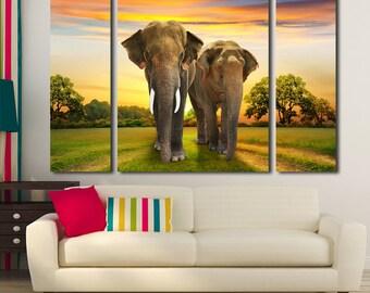 Elephant Elephant Wall Decor Elephant Print Elephant Canvas Elephant Wall Art Elephant Poster Elephant Art Animal Wall Decor Animal Canvas