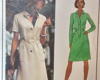 Vintage 1970s Vogue Paris Original Pattern #2935 Designer Molyneux, Misses Dress Pattern, Size 12 Bust 34 UNCUT