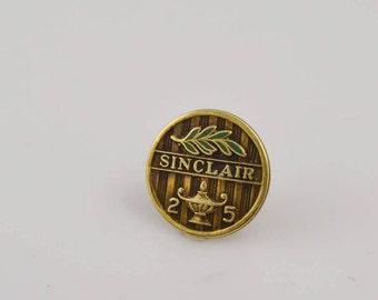 14K Yellow Gold Sinclair Oil Company 25 Year Service Appreciation Pin