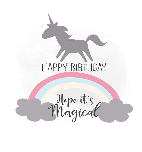 Items Similar To Happy Birthday SVG Clipart, Birthday Wish