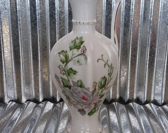 Lipper and Mann Vintage Pitcher-Vintage Floral Bud Vase-Vintage Creamer-L & M China-Vintage Ceramic Dinnerware-Vintage China Vase