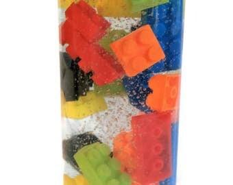 Lego Sensory Bottle  / Calming Jar / Autism / ADHD / Sensory Processing Disorder / Soothing /Preschool /Toddler /Classroom Tool